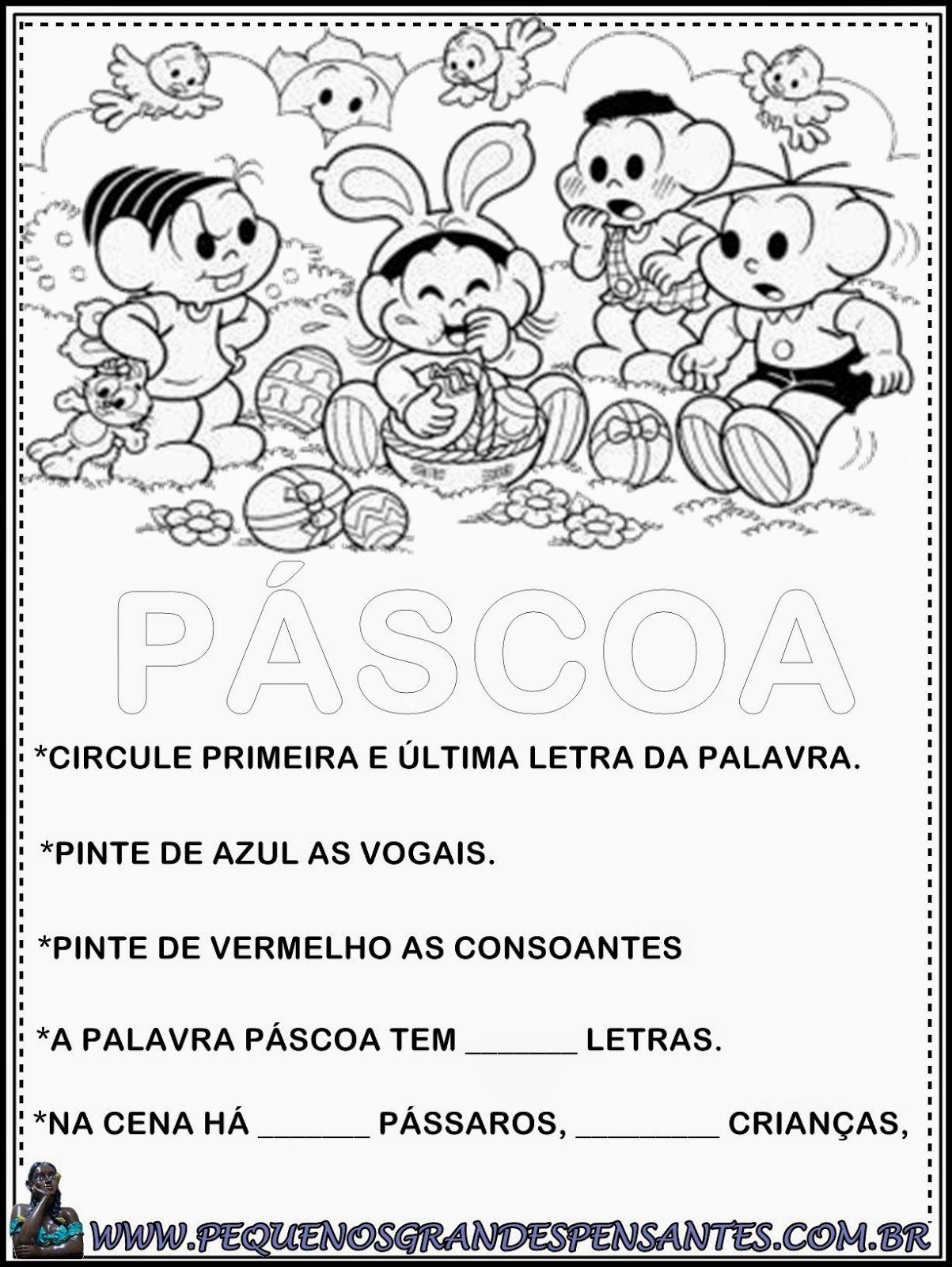 Atividade Pascoa5 Jpg 1203 1600 Com Imagens Pascoa Educacao
