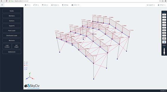 Skyciv Structural 3d Is A Cloud Based Construction Program That Can Be Used For Structural Ana Structural Analysis Construction Estimating Software Cloud Based