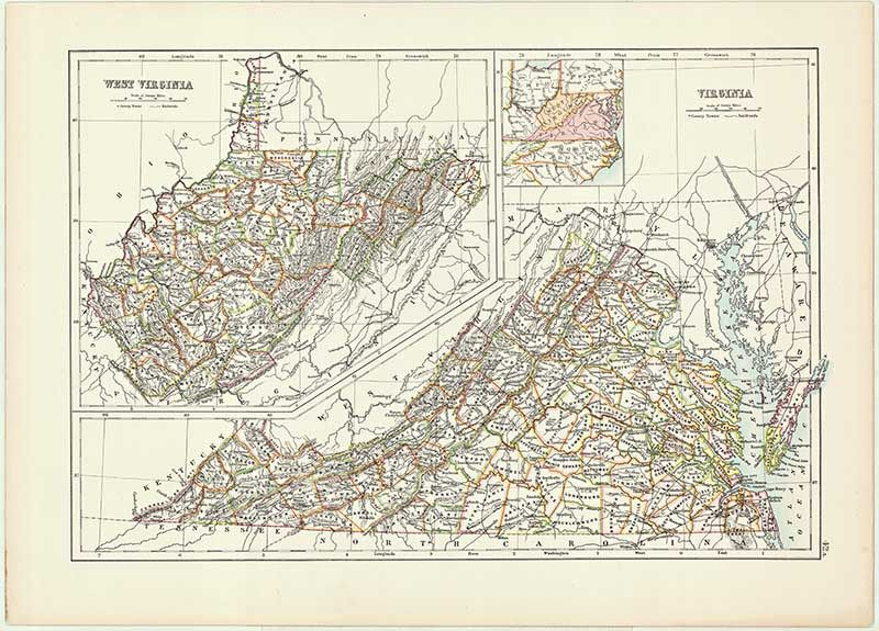 image regarding Printable Map of Virginia named Outdated US Nation Map of Virginia Previous Maps of Virginia Us