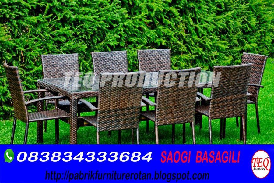 Wa 0838 3433 3684 Jual Meja Kursi Makan Rotan Di Cirebon