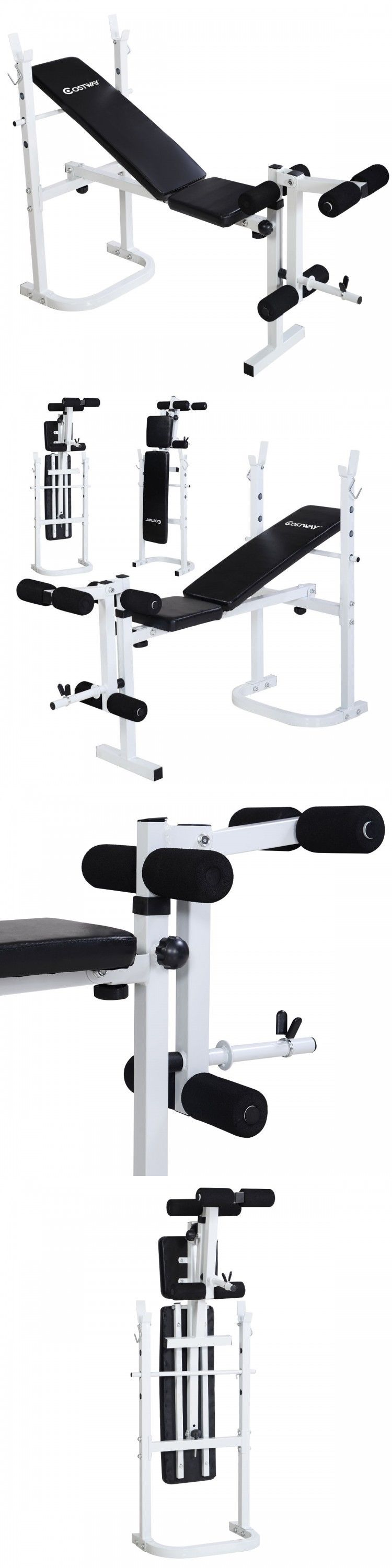 Weight Sets 179818: Weight Bench Set All In 1 Olympic Home Gym Equipment Workout Exercise Fitness BUY IT NOW ONLY: $119.25