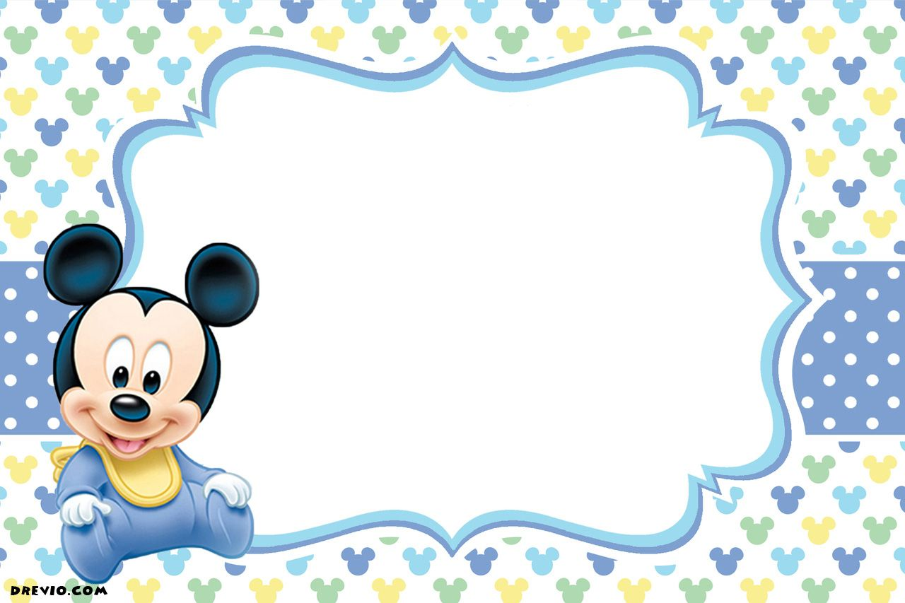Nice FREE Printable Mickey Mouse Invitations - Exclusive Selection ...