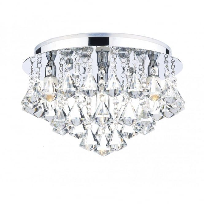 Modern Bathroom Crystal Ceiling Light With Rating Double Insulated Class 2 And Dimmable If Fitted An Appropriate Dimmer Switch