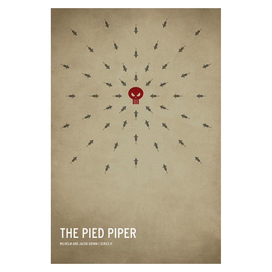 Trademark Global The Pied Piper Unframed Wall Canvas