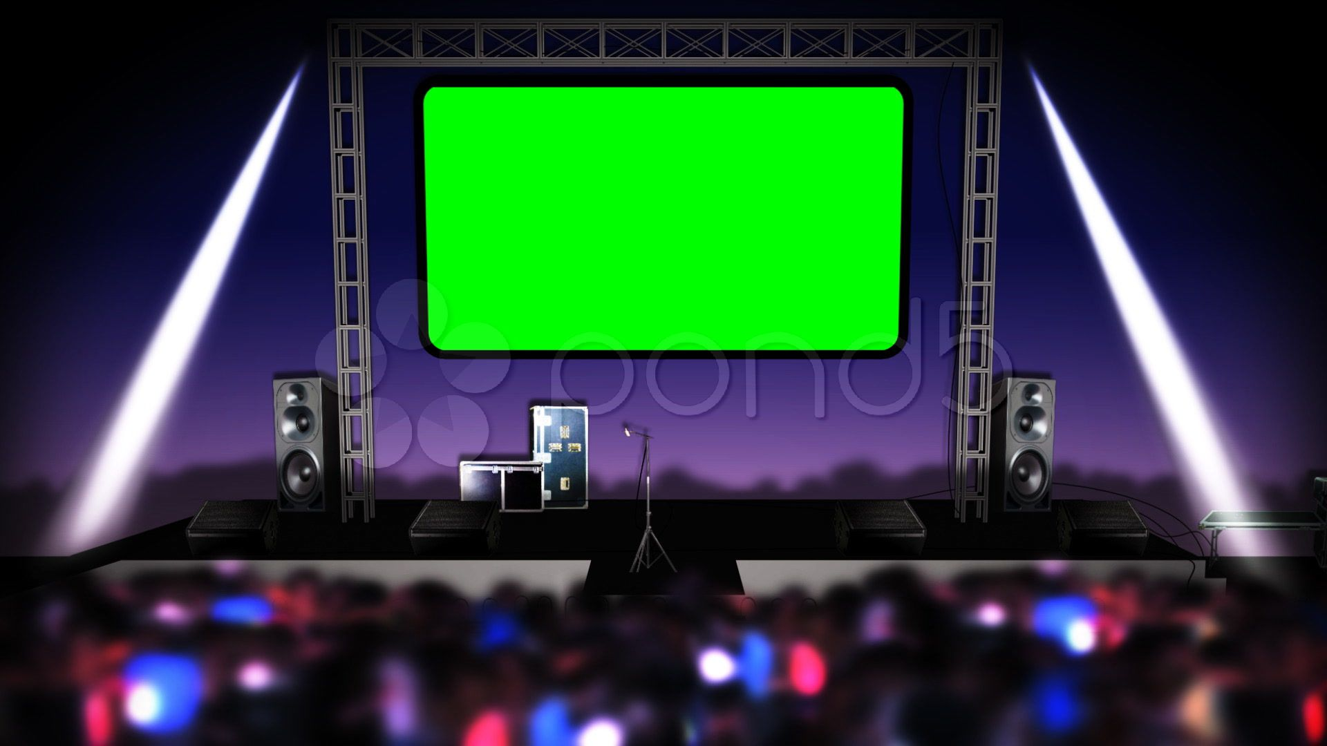 Looping Concert Stage With Green Screen Stock Footage Ad Stage Concert Green Looping Greenscreen Green Screen Video Backgrounds Green Screen Footage