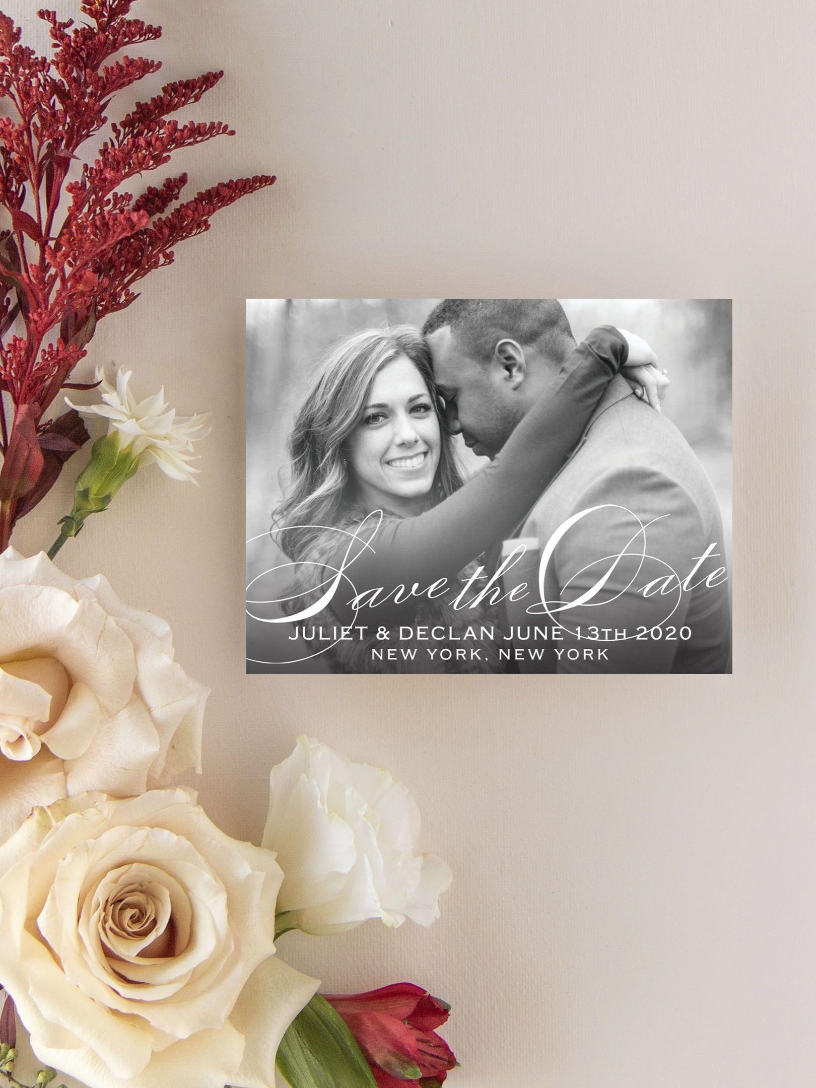 Classic Script SavetheDate Card Destination wedding