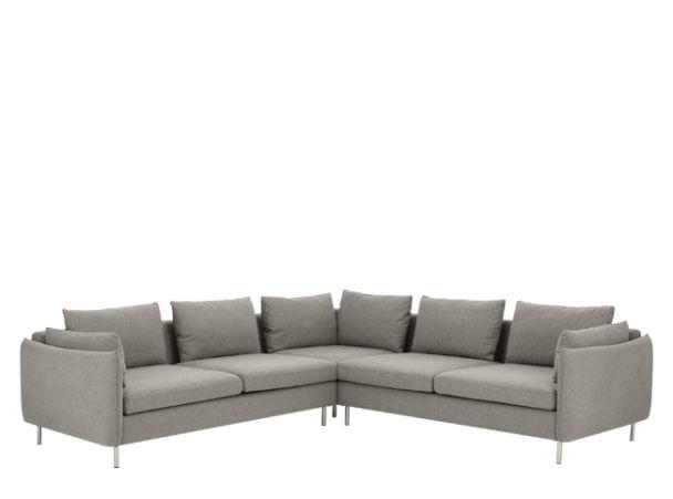 Vento 5 Seater Corner Sofa, Manhattan Grey Options Pinterest - wohnzimmer beige petrol