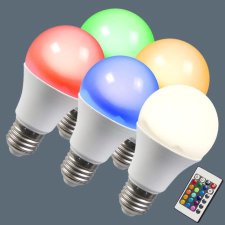 Set Of 5 E27 Led Rgb 10w Warm White E27 Led Led Ceiling Lamp