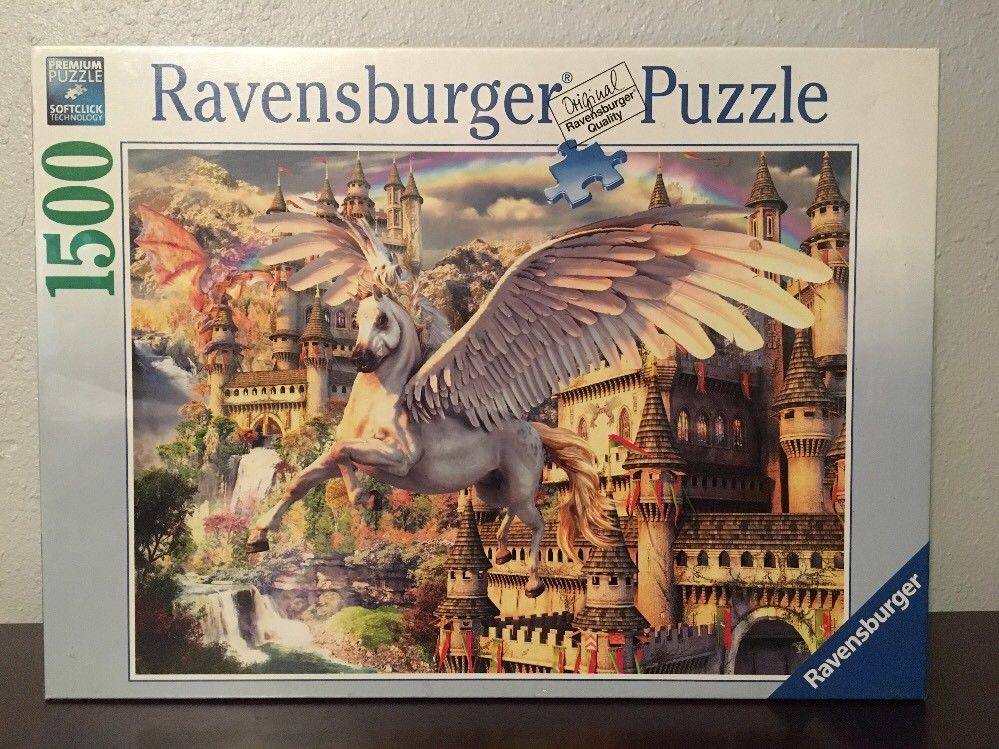 Ravensburger Puzzle Pegasus Castle 1500 Pieces Htf 16 369 4