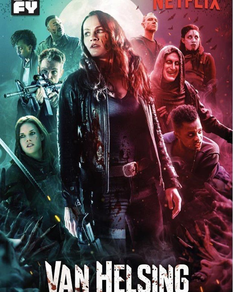 We Revealed Our Season 3 Poster Art At Comic Con Here S A Look At It For All Of Our Loyal Instagram Fans Van Van Helsing Tv Show Top Tv Shows Van