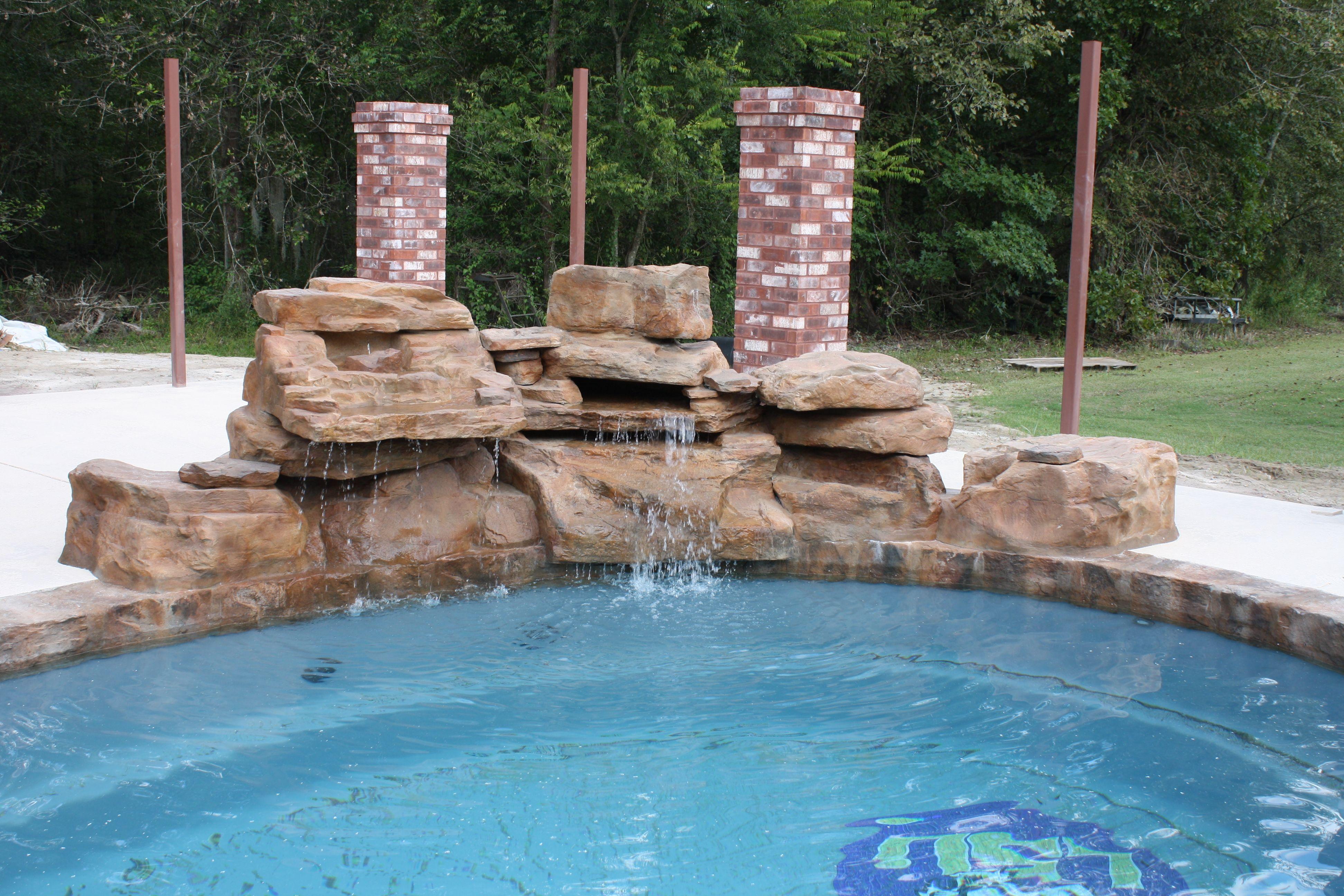 Central Pools Baton Rouge Fiberglass Pools Swimming Pools Pool Waterfall Swimming Pool Waterfall