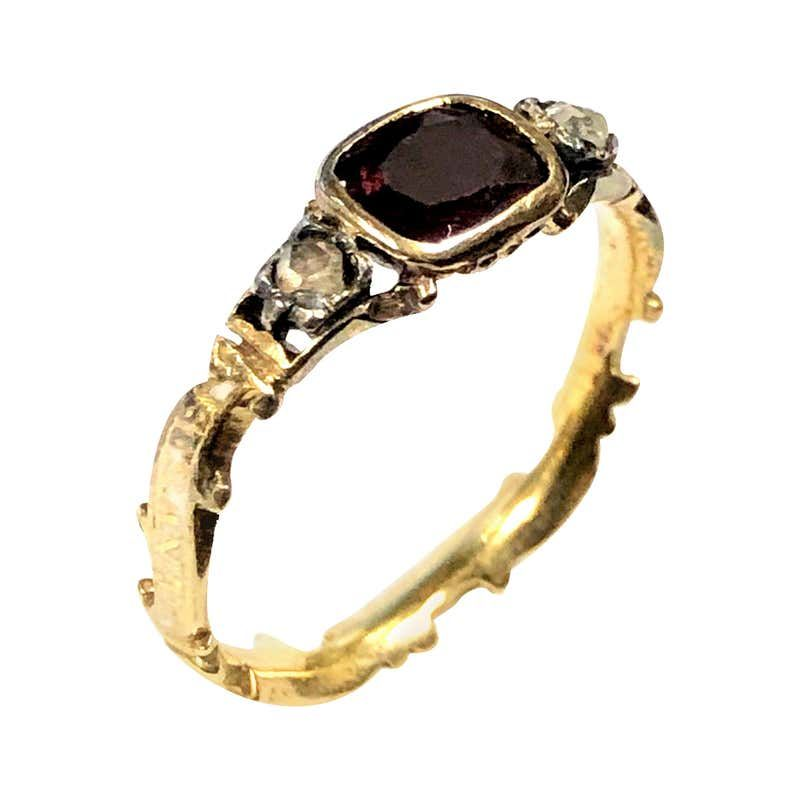 18th Century And Earlier Jewelry Watches 619 For Sale At 1stdibs Garnet Ring Vintage Heart Shaped Diamond Ring Jewelry