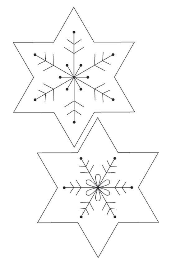 Christmas decorations: felt snowflake Christmas garland :: Free ...