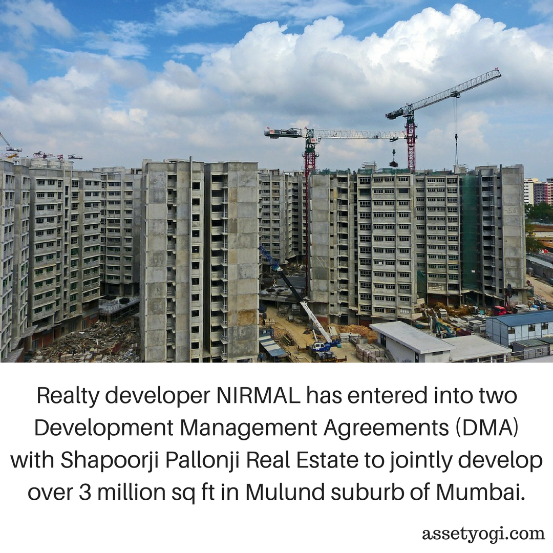 Realty Developer Nirmal Has Entered Into Two Development