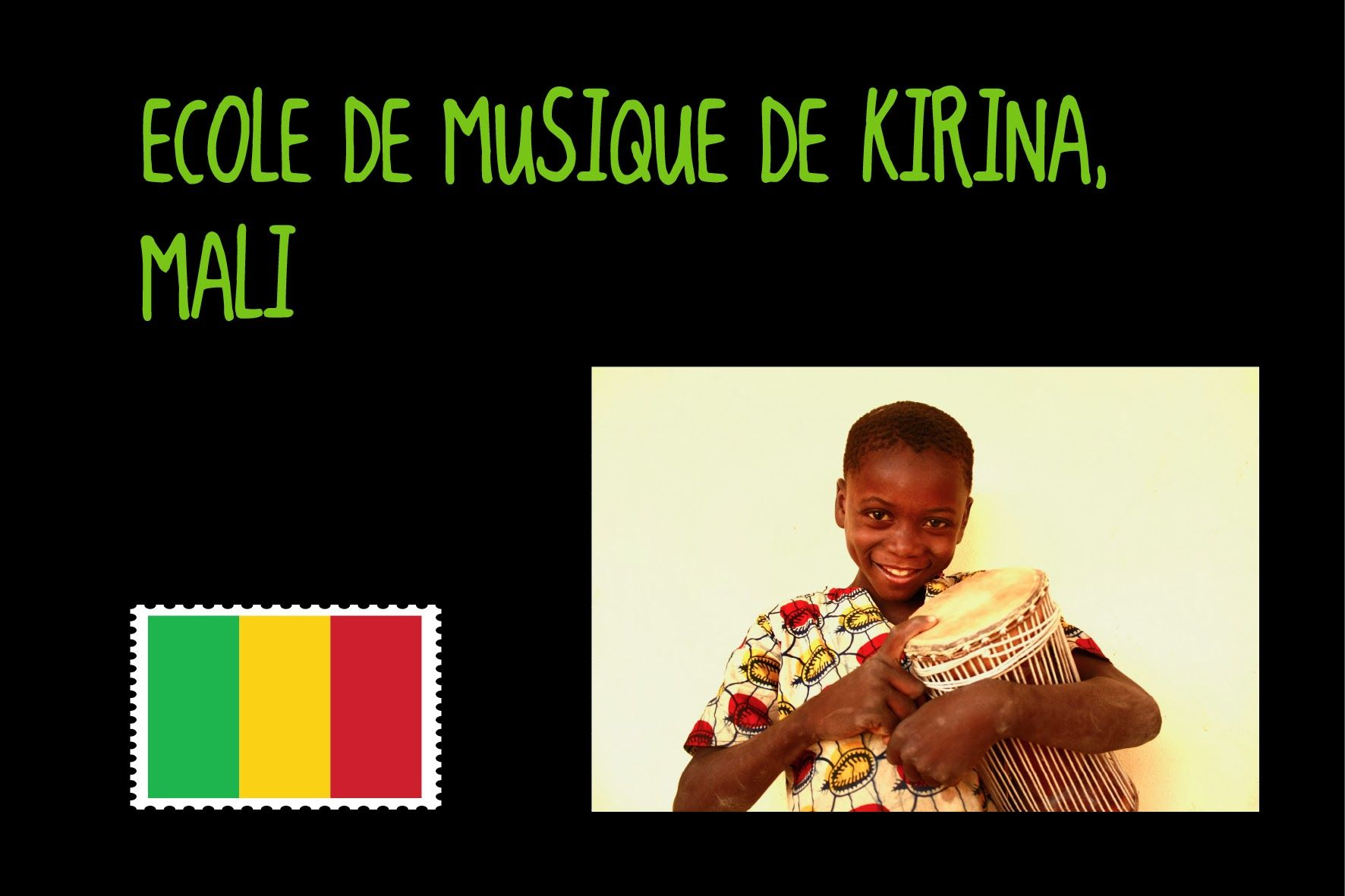 Located 50 kilometers south from Bamako, Kirina preserved a cultural and musical knowledge that goes back to the 13th Century. Built with the active participation of the community, the music school receives since October 2010 more than 200 students per week, who attend classes in #kora, #djembé, #balafon, #dance and #chant. Beyond #music classes, we introduced English and French classes as well as homework support classes.