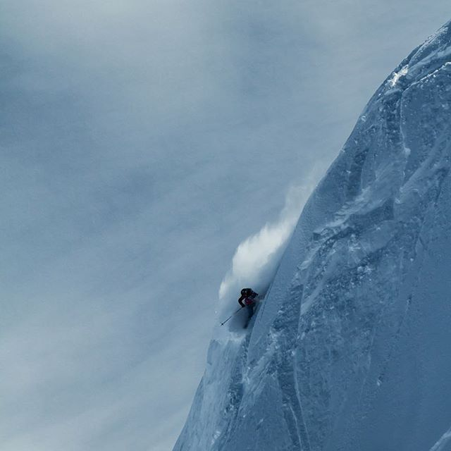 Great shot of @silvia.moser who won the 4th #FWT stop in #Haines, Alaska!  by @domdaher