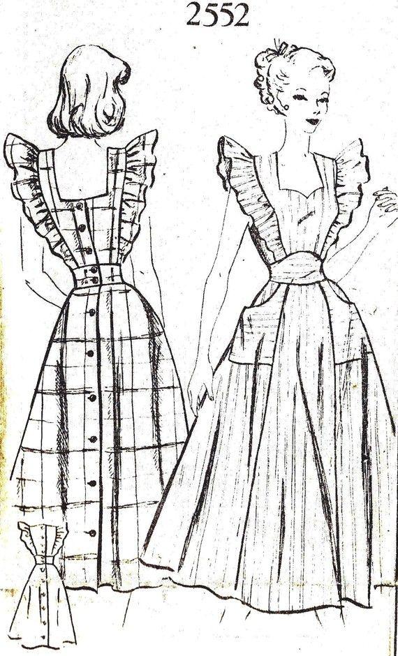 Pinafore Dress Apron Pattern