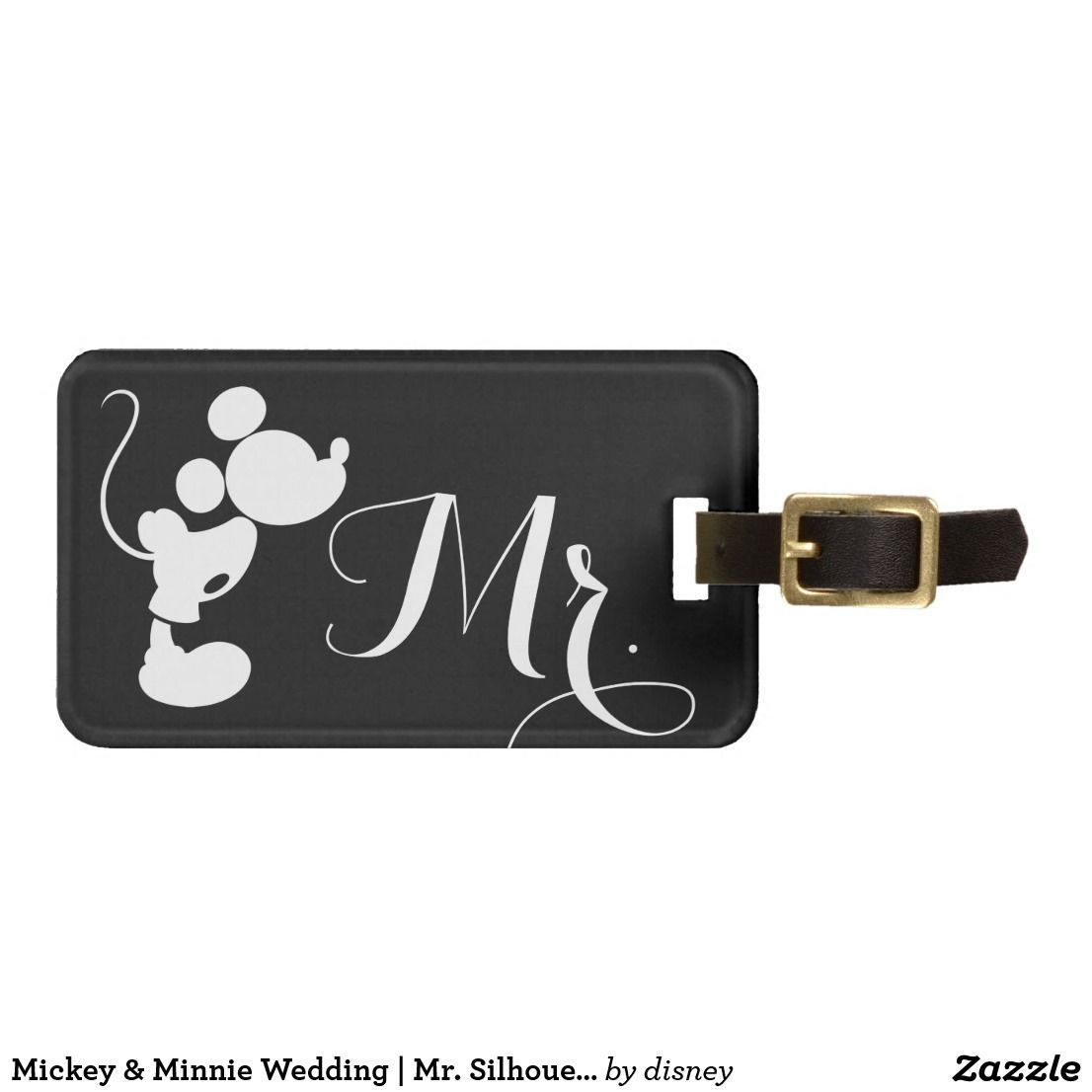 Mickey Mouse Favor Tags Wedding Luggage Tag Head Minnie Silhouette Silhouettes 1106x1106