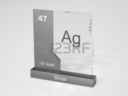 Silver Symbol Ag Chemical Element Of The Periodic Table