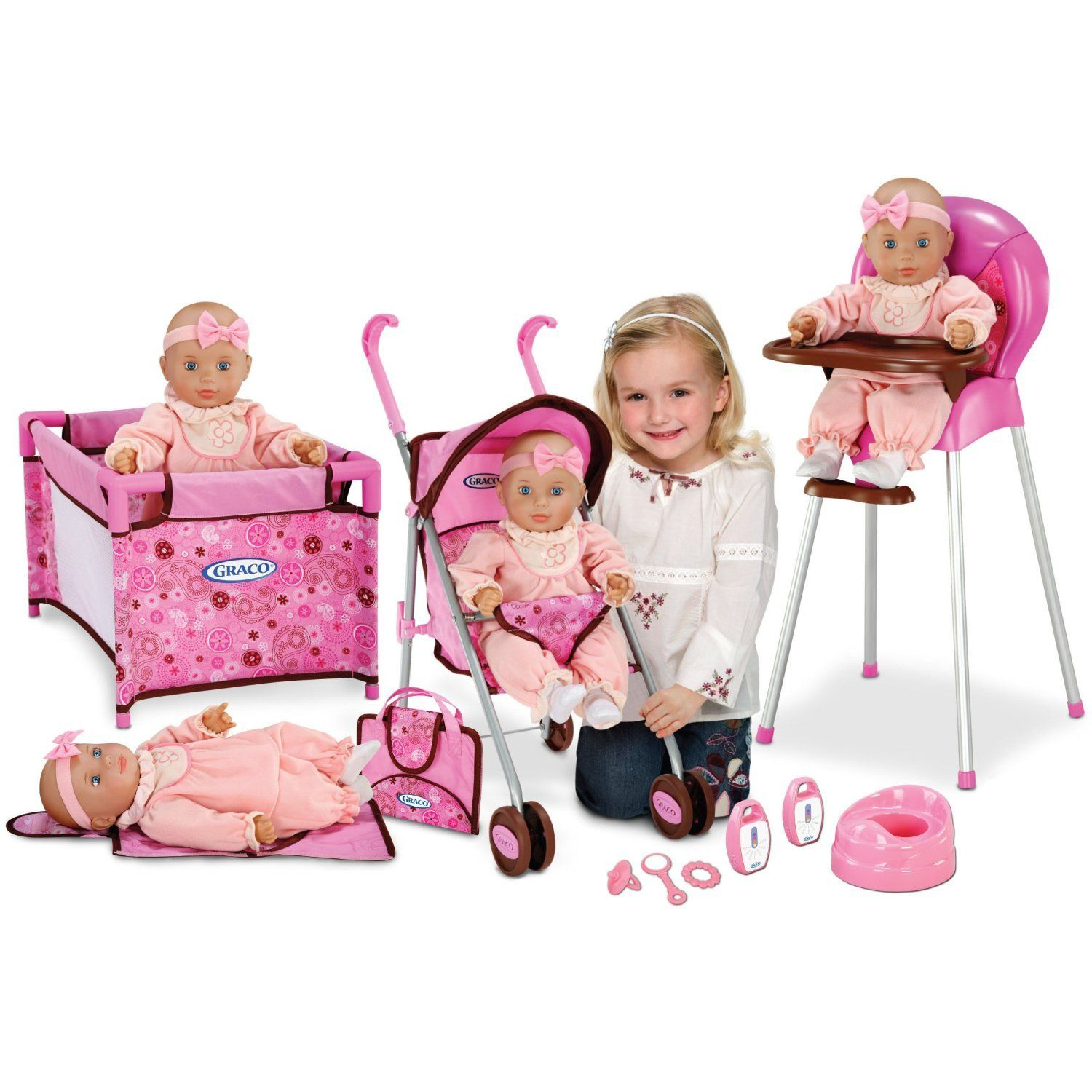 2014 RE Graco Baby Doll Playset Stroller