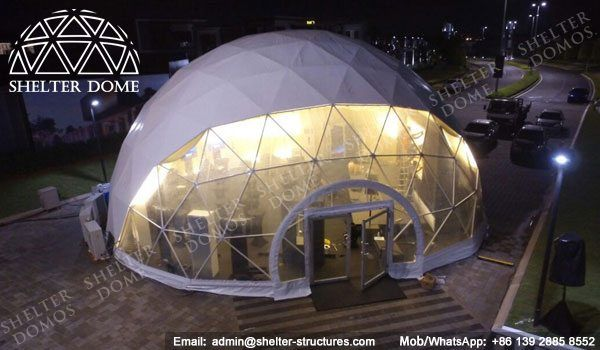 15m Catering domes for sale - Geodesic dome tents with entrance hall - Elegant spherical structures & 15m Catering domes for sale - Geodesic dome tents with entrance ...
