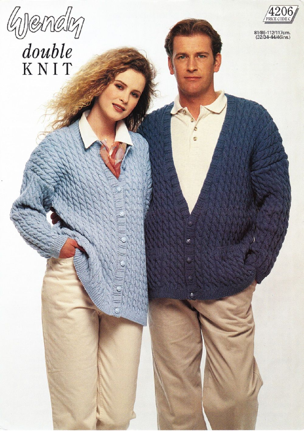 Wendy knitting pattern 4206 dk his hers v neck round neck wendy knitting pattern 4206 dk his hers v neck round neck cable bankloansurffo Images