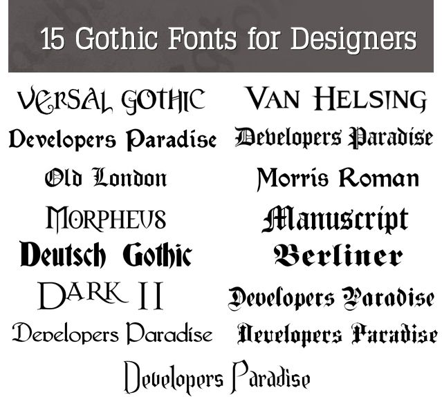 Beautiful Free Gothic Fonts | Wedding Invite Ideas ...