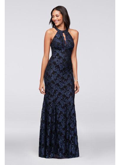 cb9637ee008 Long Mermaid  Trumpet Halter Formal Dresses Dress - Morgan and Co ...