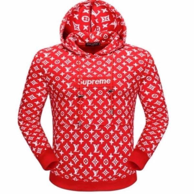 7b4e536e23ef Supreme Hoodie - Red Louis Vuitton Box Logo Hoodie