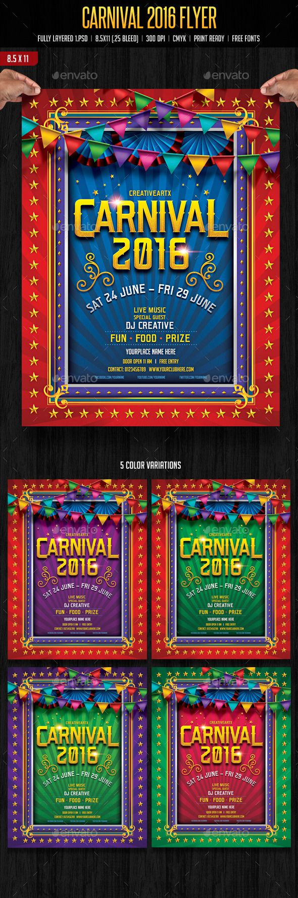 Carnival Flyer Flyer Carnival Flyer Template