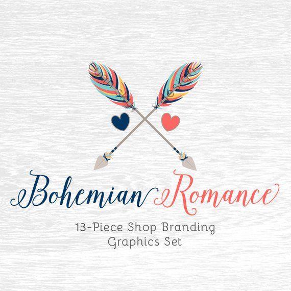 895c7a0c1fab0 Boho Arrows Shop Branding Banners, Avatar Icons, Business Card, Logo ...