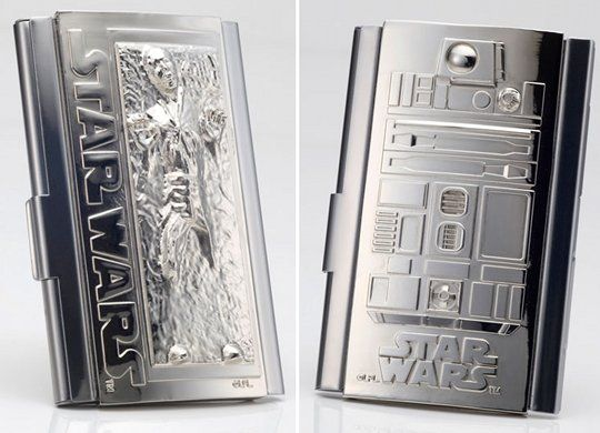 Star wars business card holder 76 han solo in carbonite r2 d2 star wars business card holder han solo in carbonite card case colourmoves