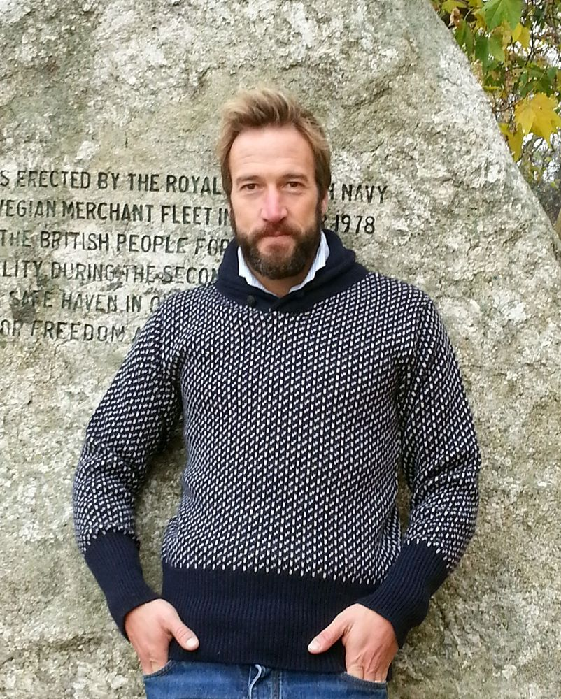 The explorer a norwegian pattern shawl collar jumper from north a norwegian pattern shawl collar jumperighly heavier than the submariner knit fdor when you need to be super warmavailable in navy basewith ecru fleck bankloansurffo Choice Image