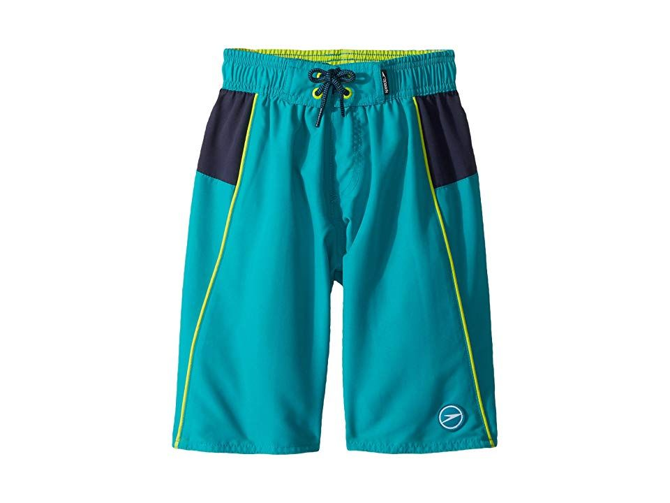 7abab38429 Speedo Kids Sport Volley (Little Kids/Big Kids) (Marine Green) Boy's  Swimwear. Home is where the waves are. Get out and chase them in the Speedo  Kids Sport ...