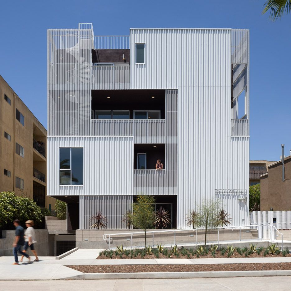 Aia Housing Award Winners Cloverdale749 Los Angeles By Lorcan O Herlihy Architects Facade Architecture Design Facade Architecture Facade Design