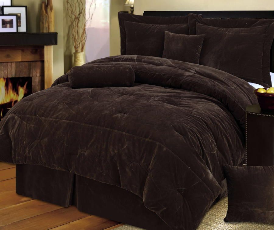 Chocolate Brown Comforter Set Beds Pinterest Brown