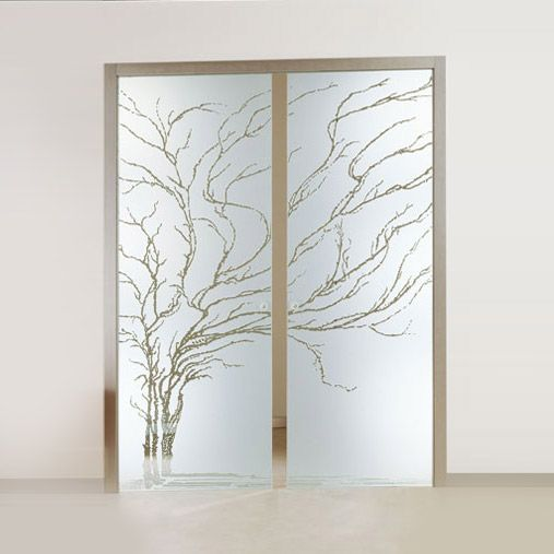 Porta interna a due ante in legno con vetro decorato doors windows porte finestre in - Porta interna con vetro ...