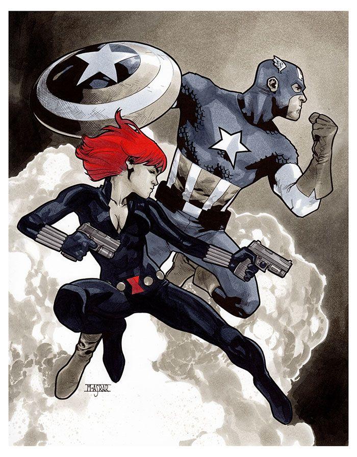 Captain America & Black Widow - NYCC 2016 Pre-Show Commission by Mahmud Asrar