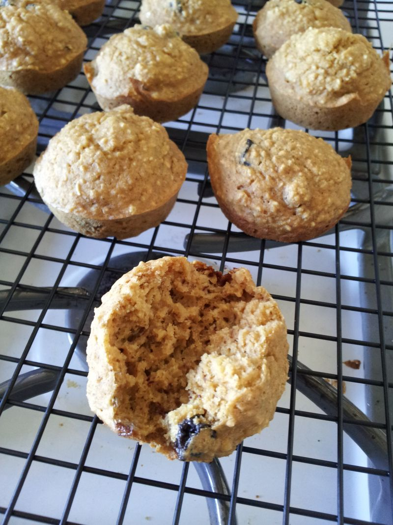 Healthy Blueberry Banana Muffin recipe for babies.