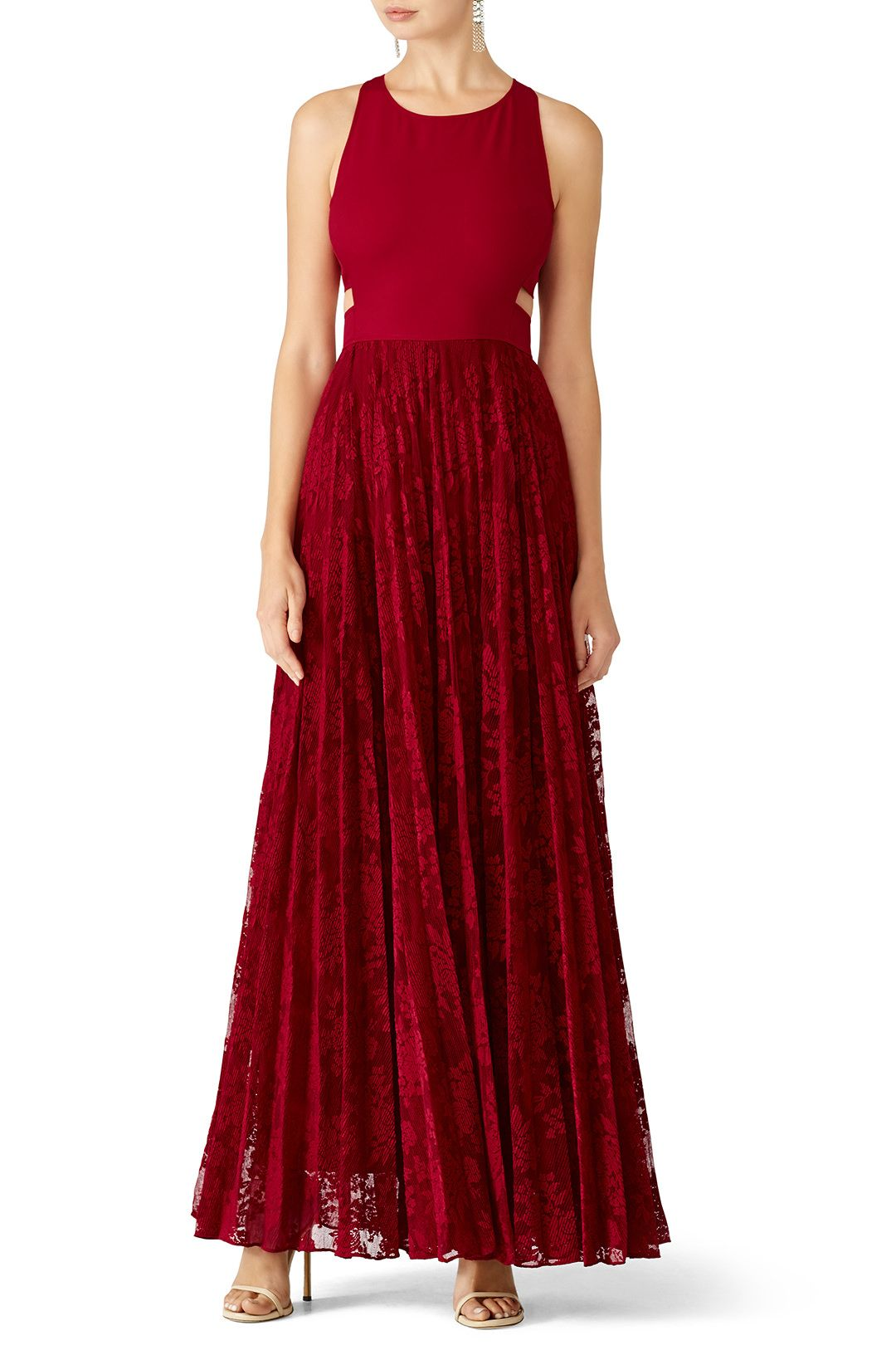 Red Cutout Gown | Bridal party dresses | Pinterest | Gowns, Designer ...