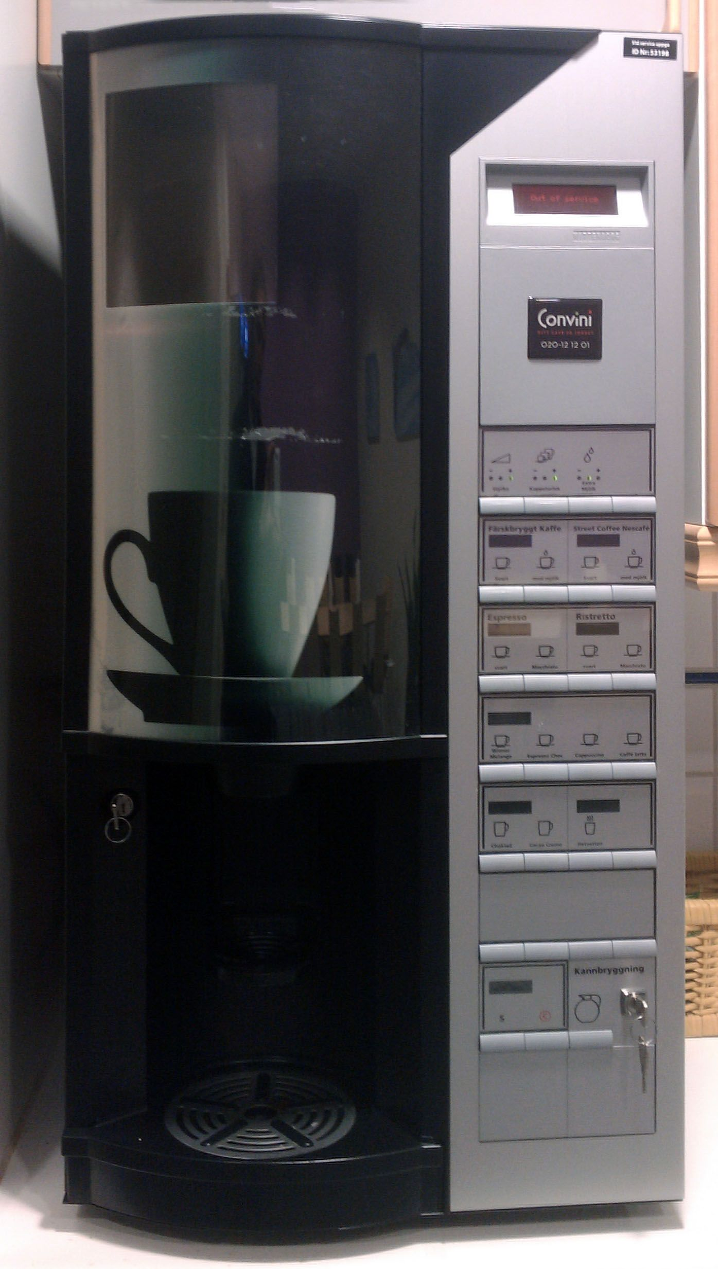 """coffee machine is """"out of service"""" when boiling"""
