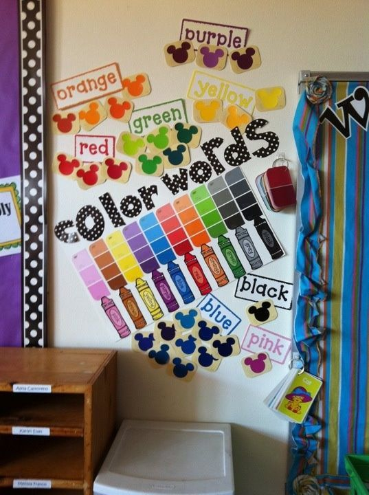 Classroom Wall Decoration Pics : Color words wall decoration idea art room and visuals
