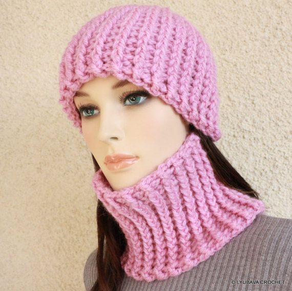Crochet PATTERNS Women\'s Hat, Neck Warmer Pattern, Chunky Crochet ...