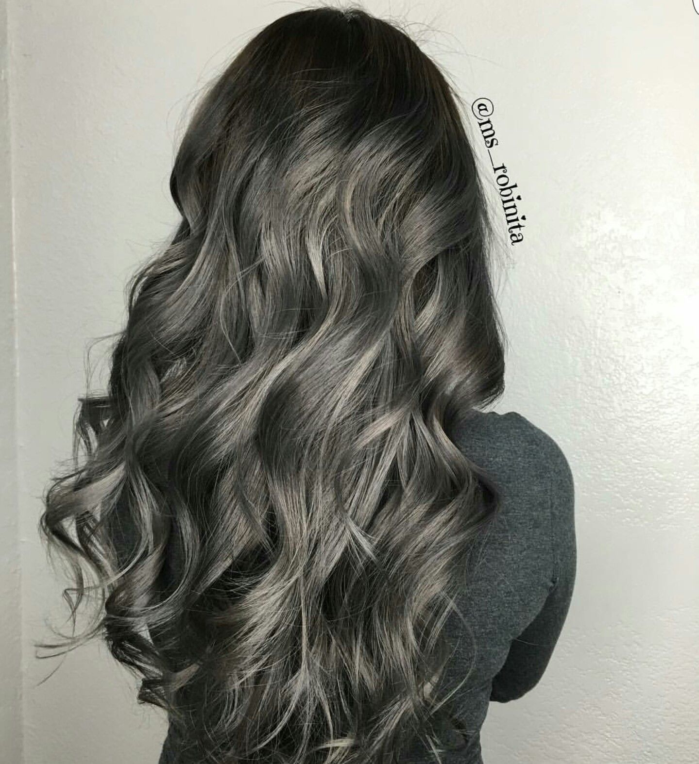 Gunmetal Grey Charcoal Hair Hair Styles Silver Hair Color