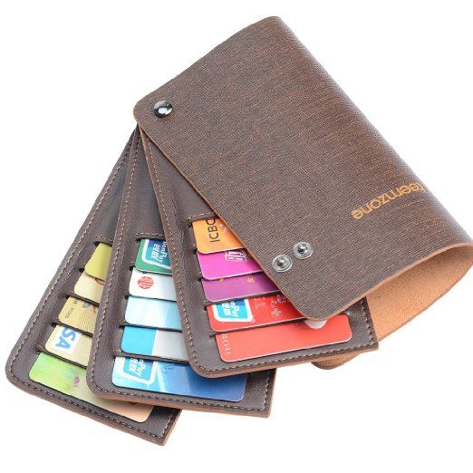 Amazoncom teemzone men women genuine leather name credit for Womens business card case