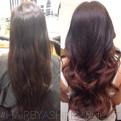 Ombre Dark To Auburn Hair Auburn Hair Indian Hair Color Balayage Hair Purple