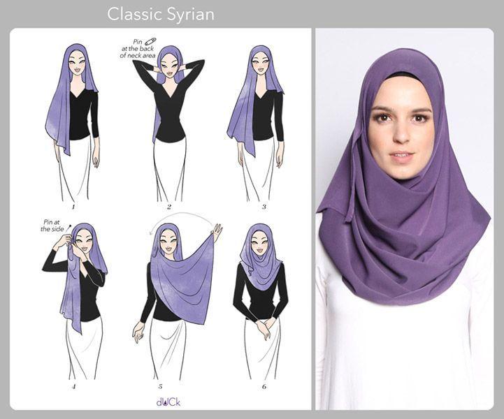 #duckscarves #tutorial #classic #syrian #hijab #byClassic Syrian Hijab Tutorial by duckscarves
