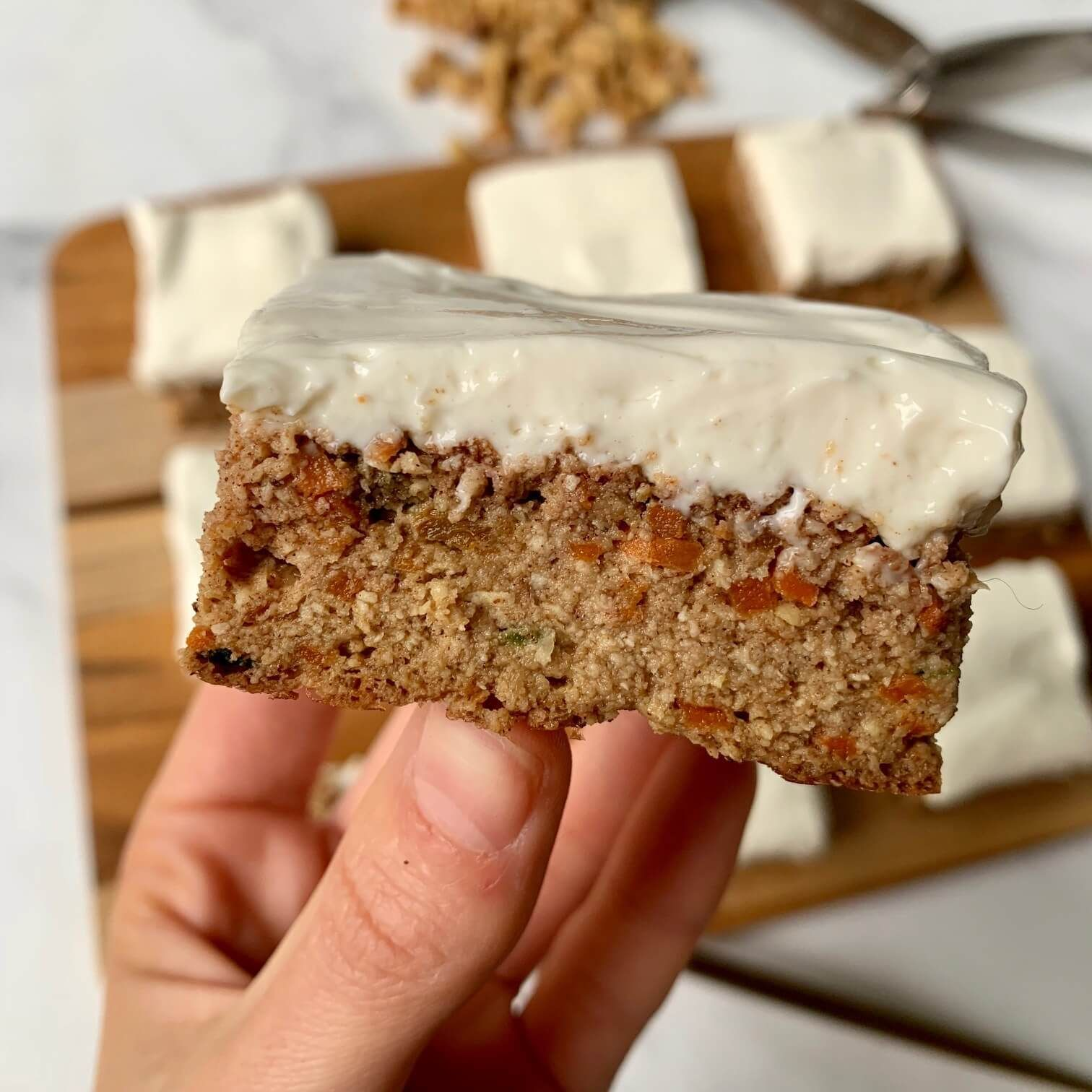 Healthy Carrot Cake & Cream Cheese Frosting Recipe