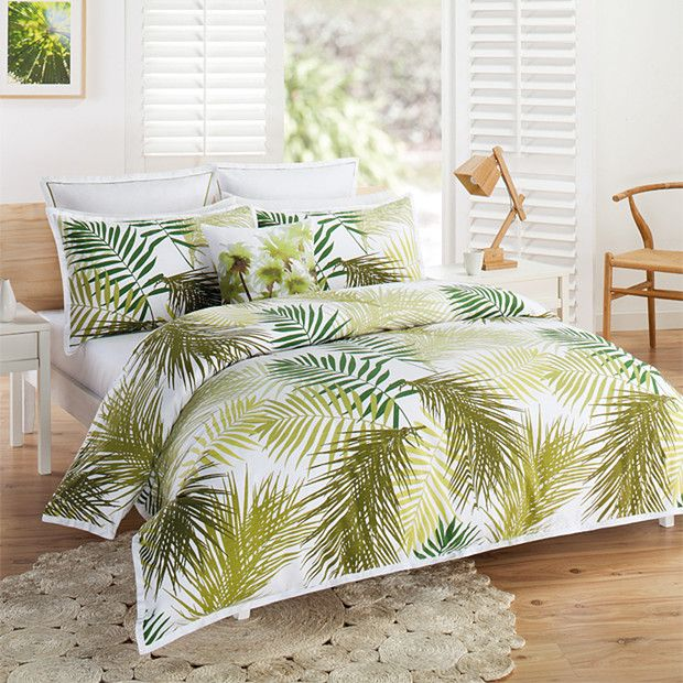Palm Tree Quilt Cover Set | Tree quilt, Quilt cover and Bedrooms : green quilt covers - Adamdwight.com