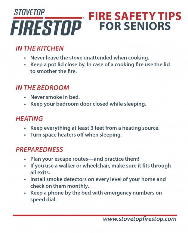 Fire safety tips for seniors safety tips pinterest for House fire safety tips